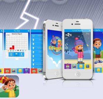 Kid Weather app user interface design