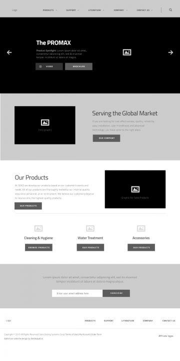 sekousa.com home page wireframe