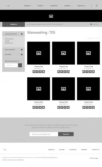 sekousa.com product catalog page wireframe