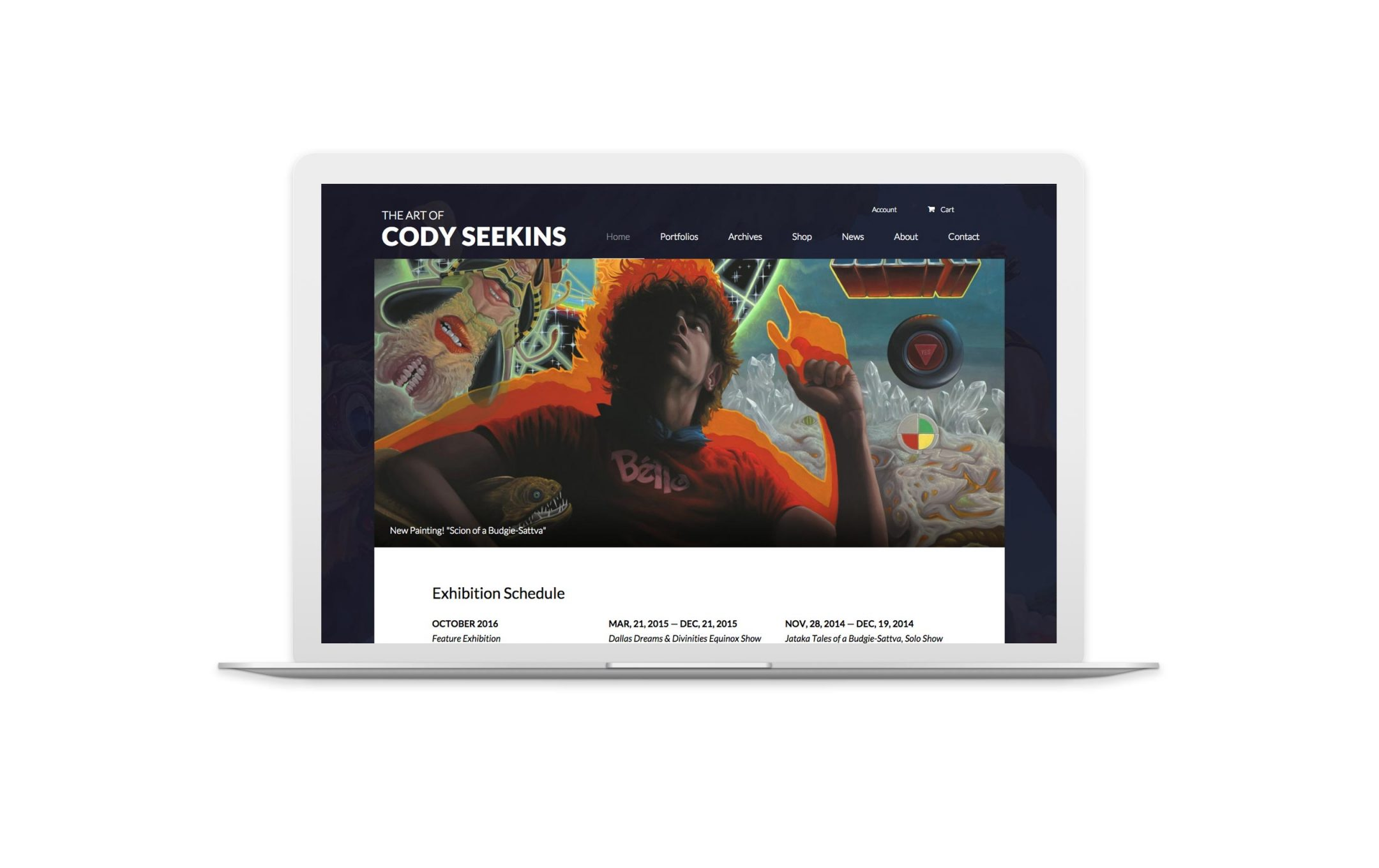 codyseekins.com home page design