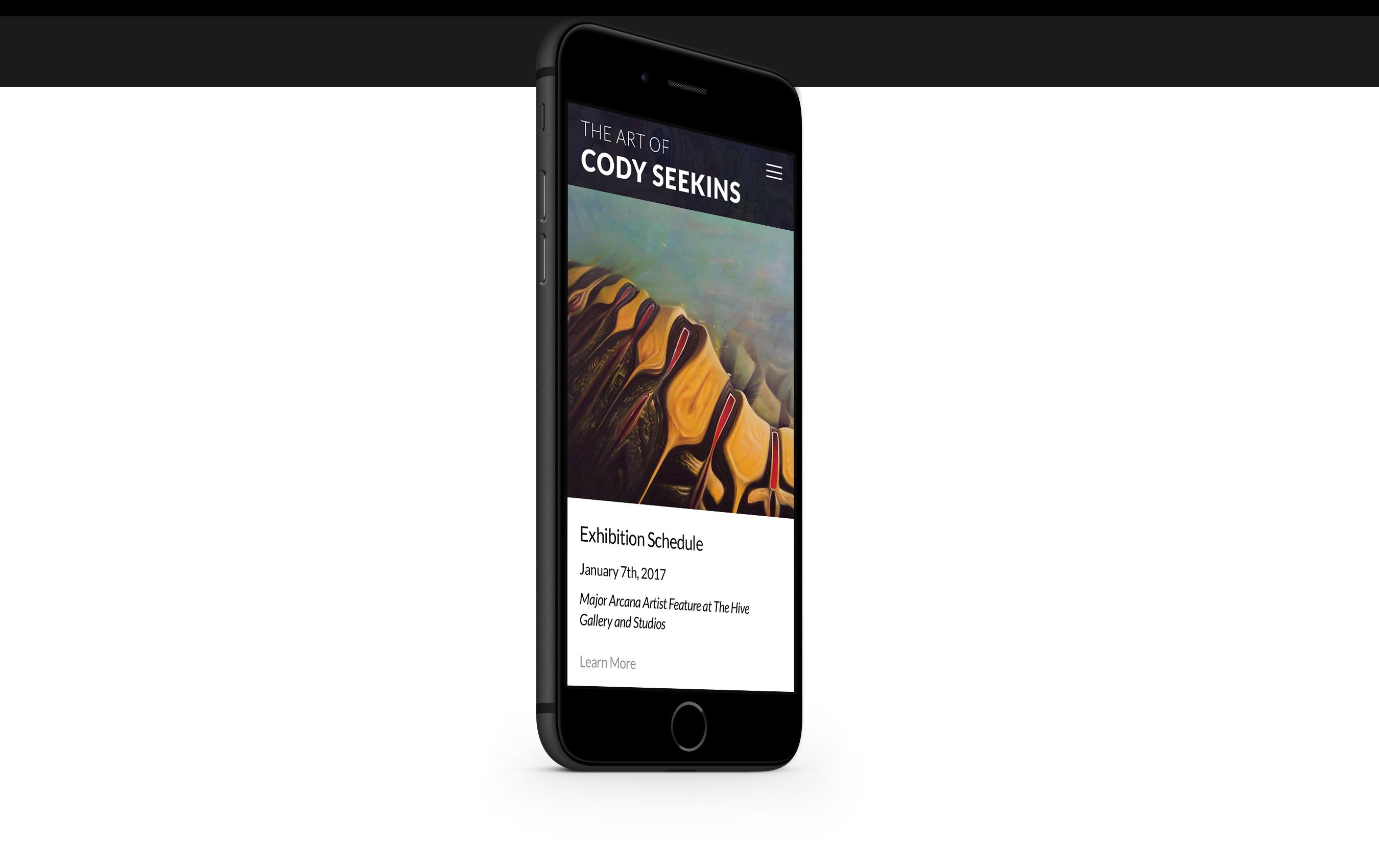 codyseekins.com mobile site design