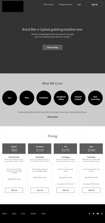 thecoachingredhead.com home page wireframe