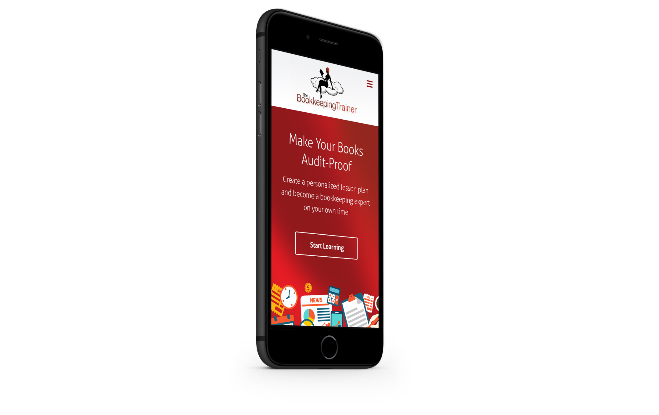 thecoachingredhead.com mobile site design