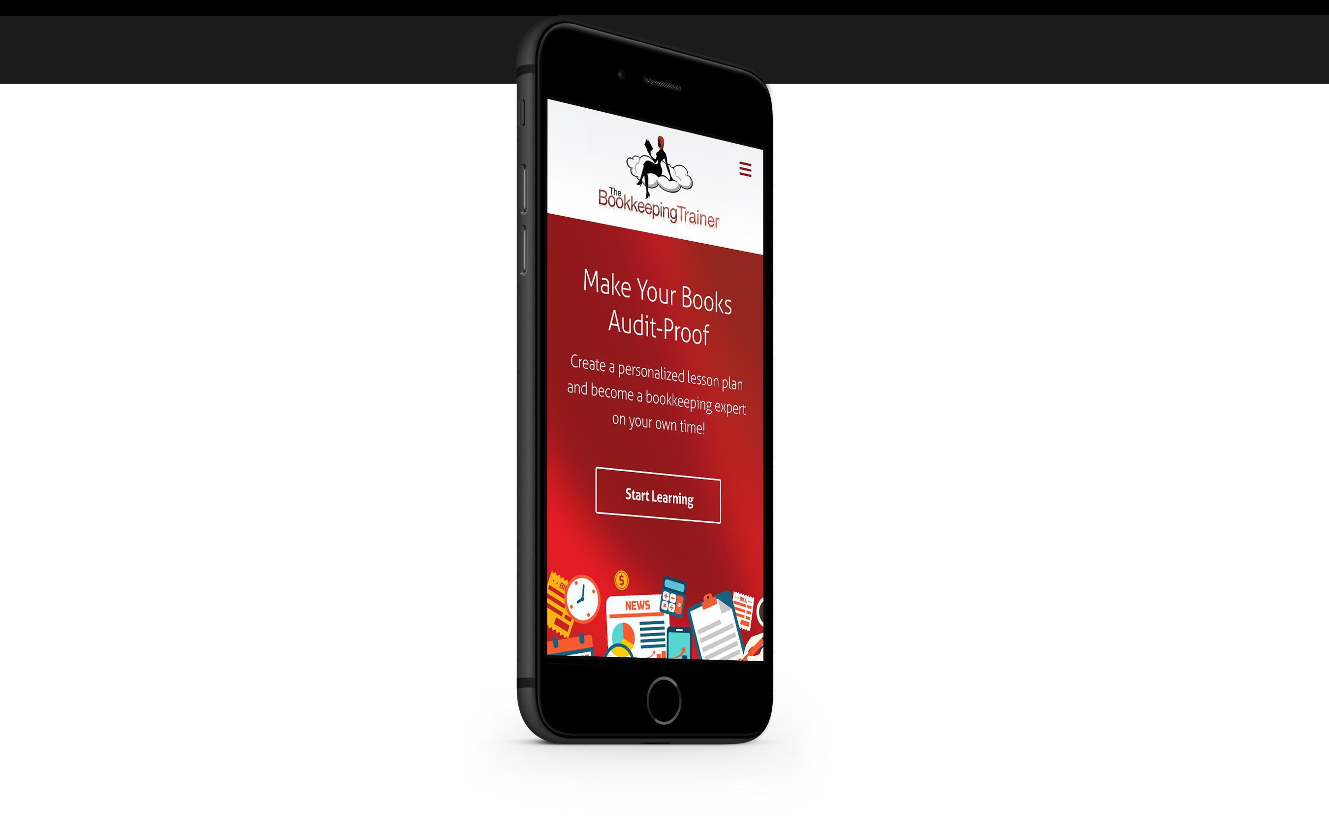 thecoachingredhead.com mobile site design