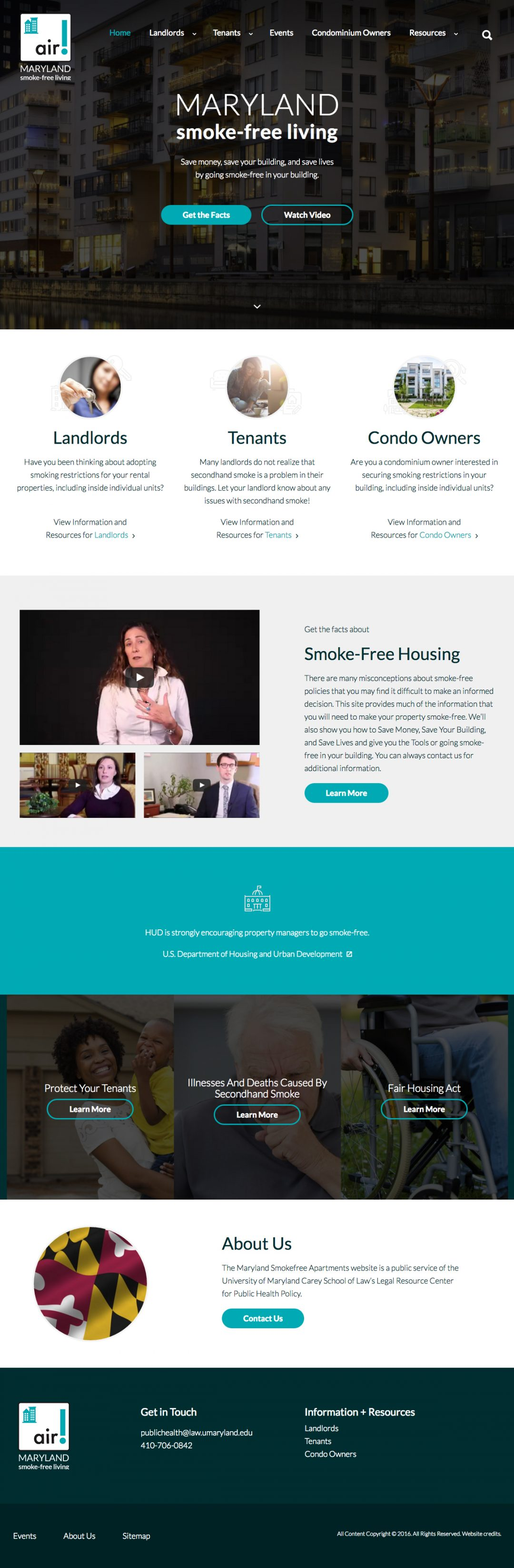 mdsmokefreeapartments.org home page