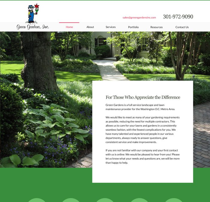 greengardensinc.com home page design
