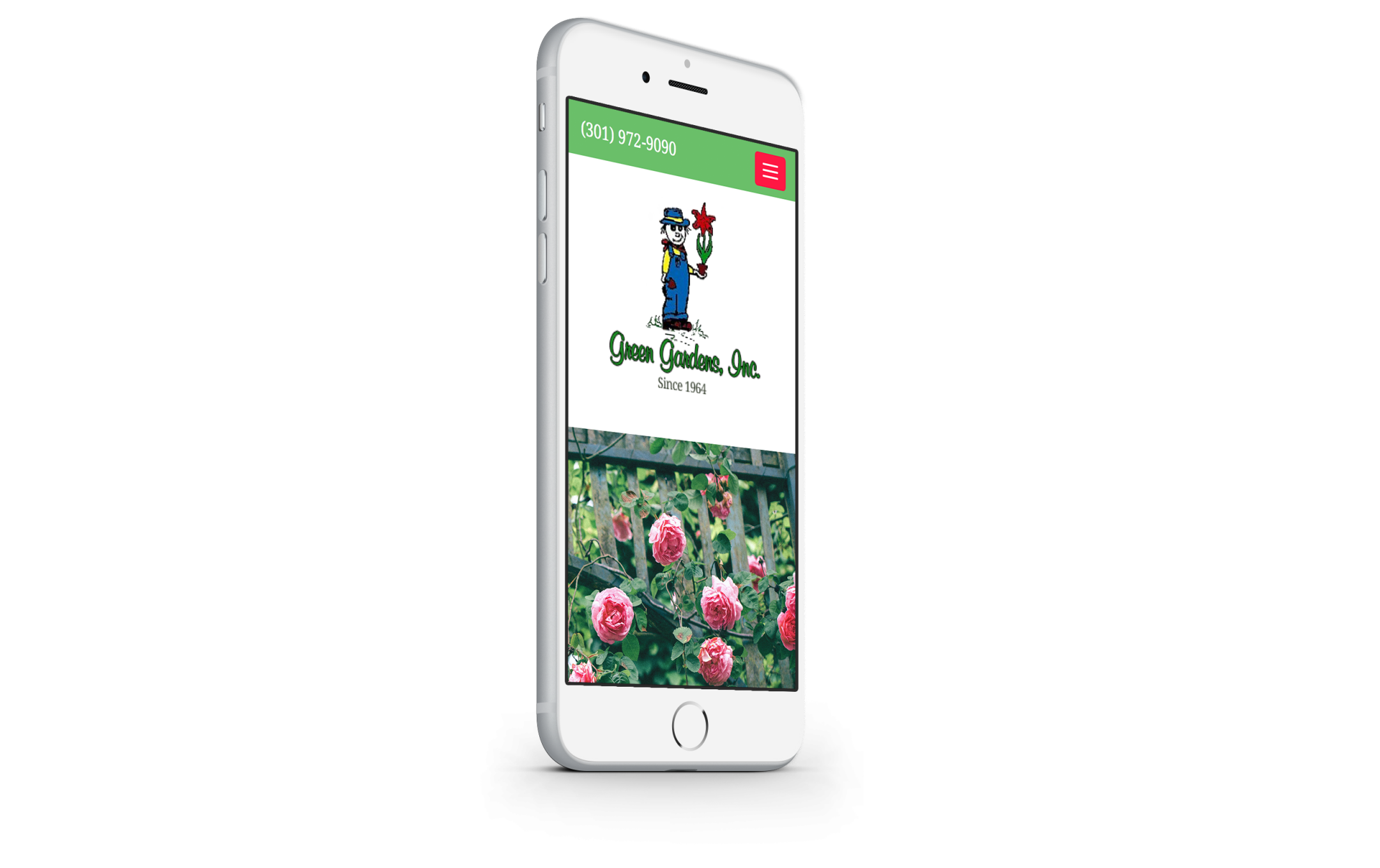 greengardensinc.com mobile website design