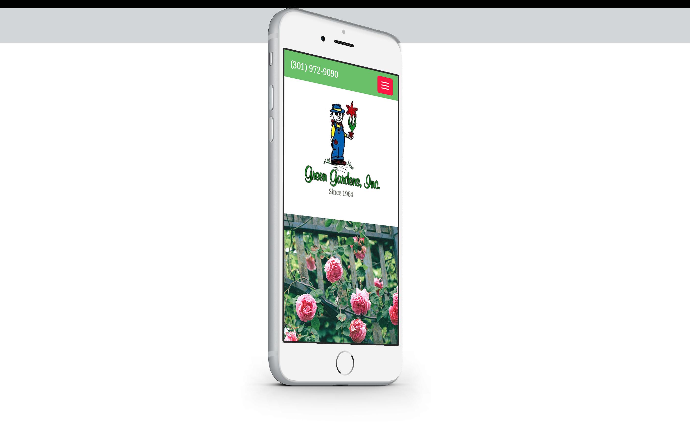 greengardensinc.com mobile website design