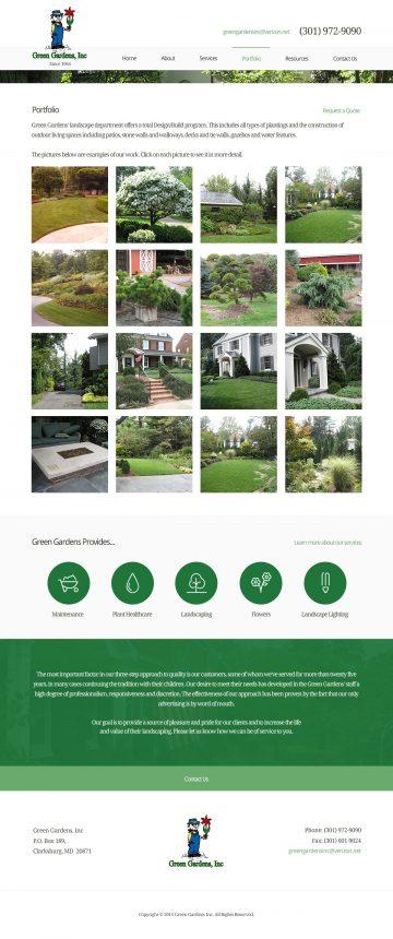 GreenGardensInc.com Portfolio page