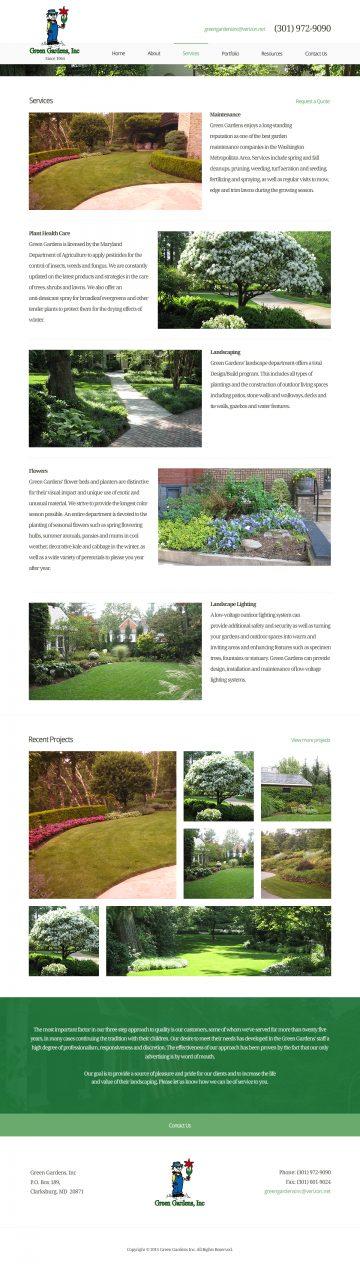 GreenGardensInc.com Services page