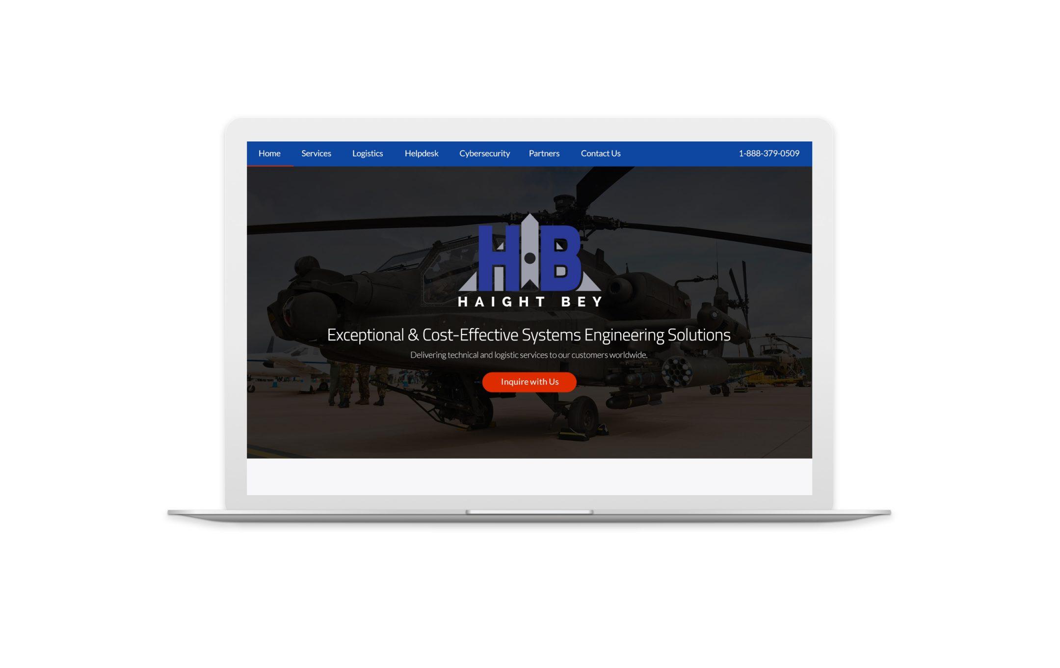 haightbey.com website mock-up