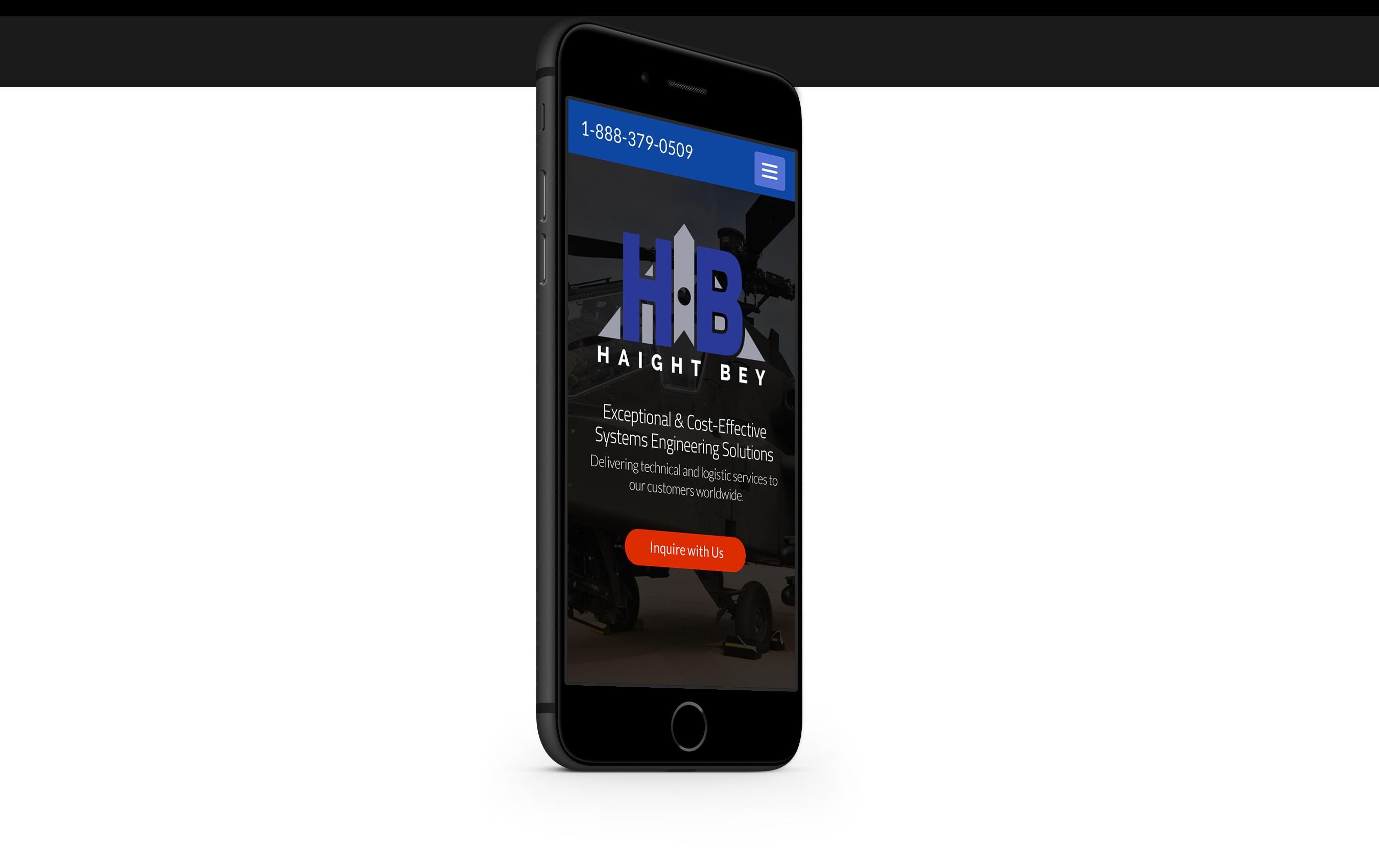 haightbey.com mobile website design