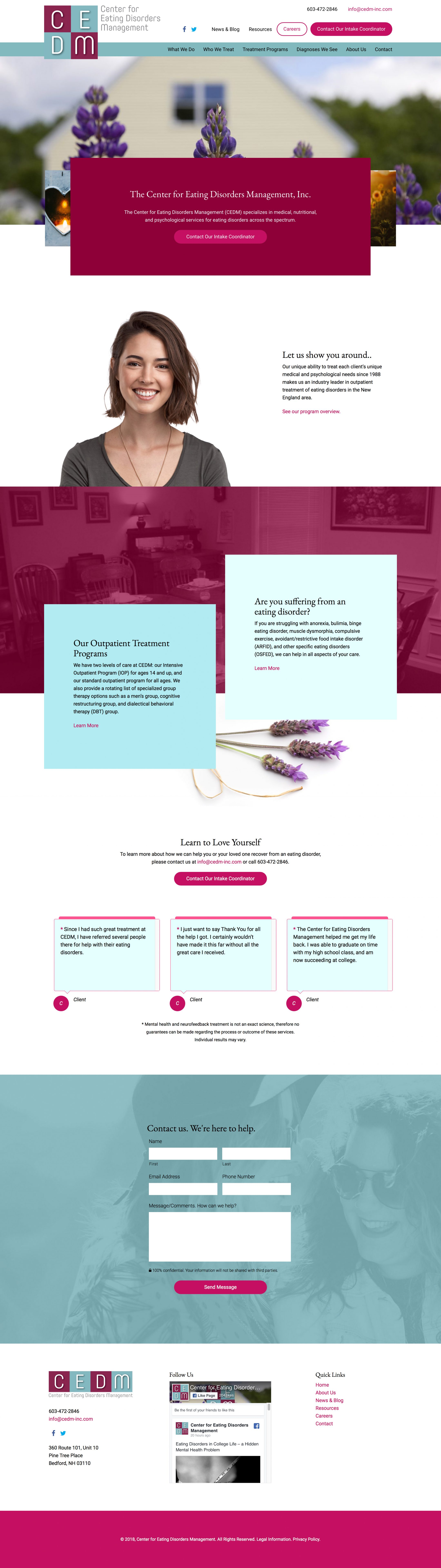 cedm-inc.com home page